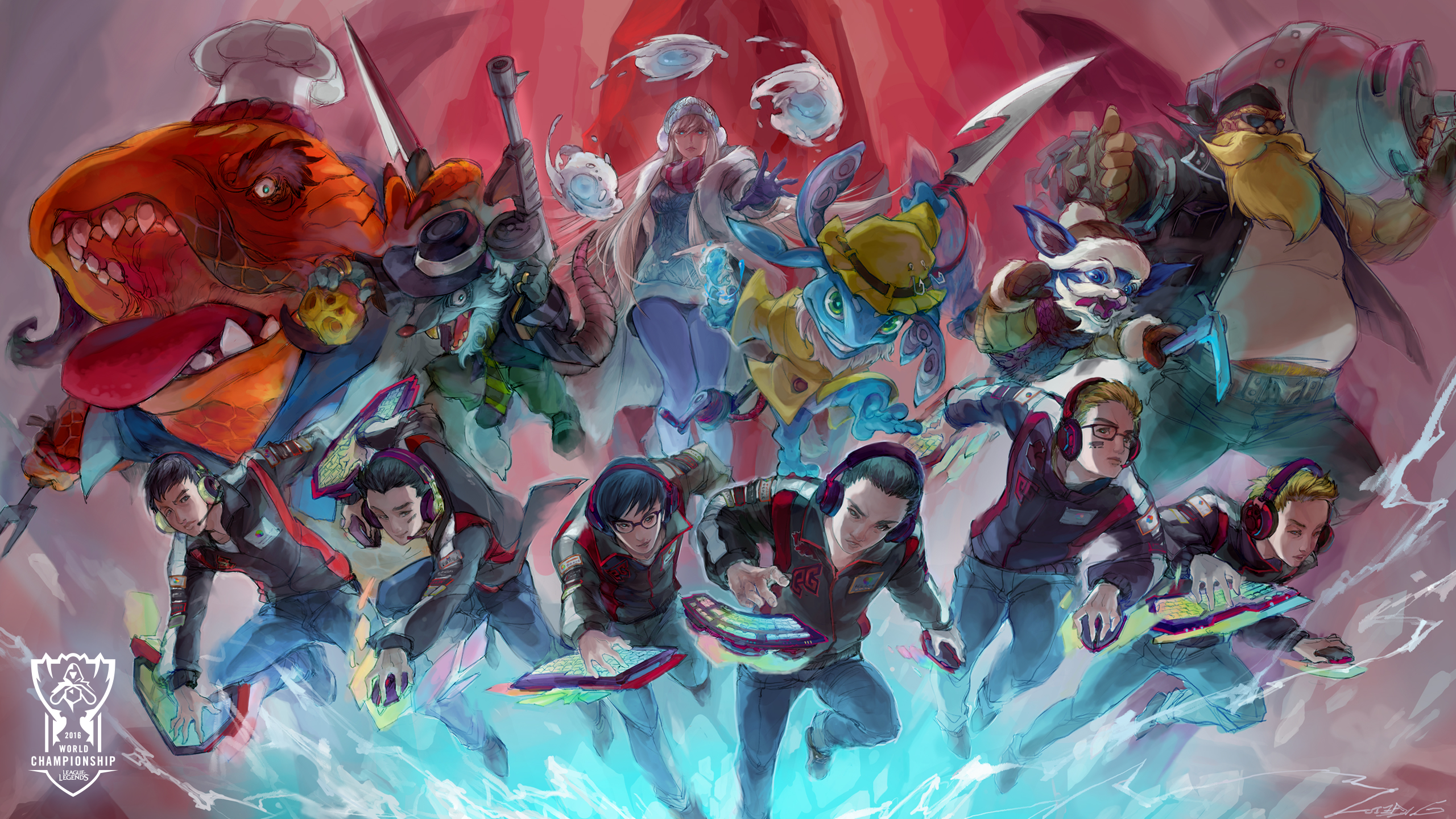 16 teams 16 artists worlds wallpapers are here league of legends download full size wallpaper voltagebd Choice Image