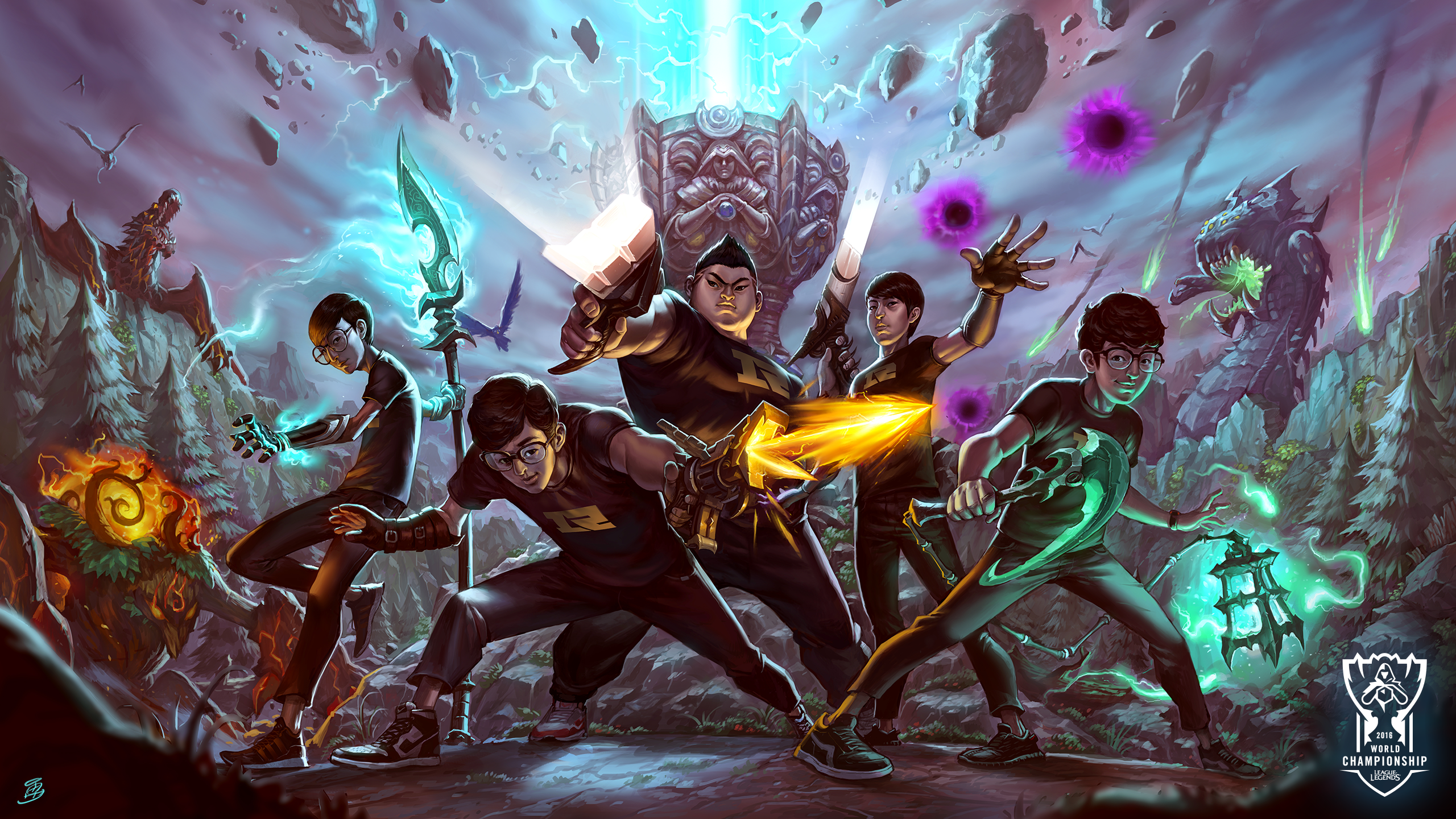 16 teams 16 artists worlds wallpapers are here league