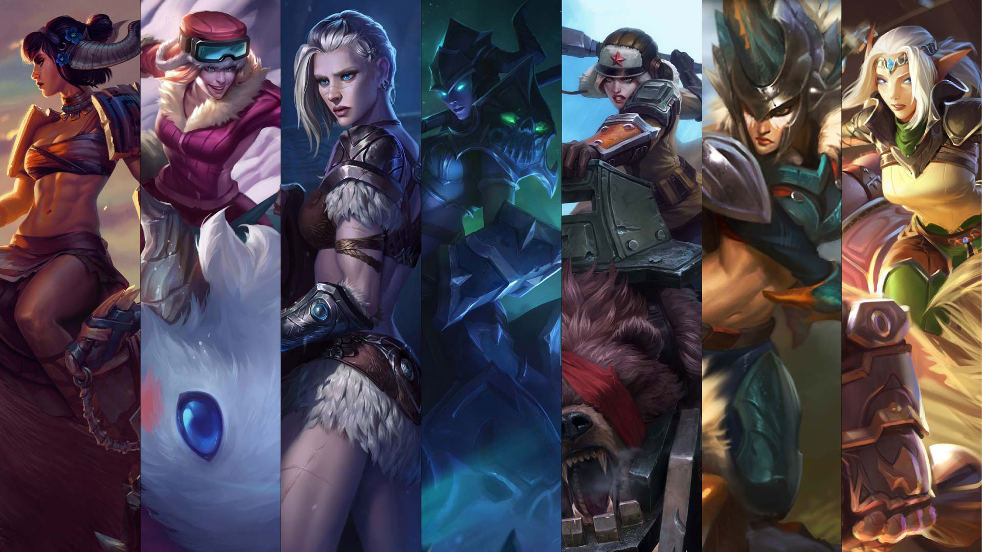sejuani and maokai have updated splash art league of legends