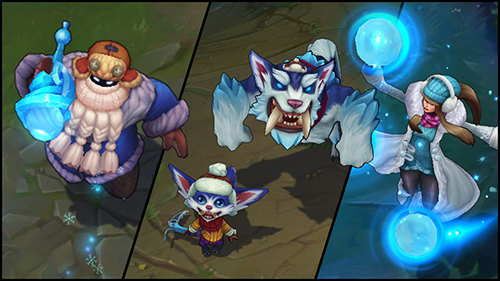 Snow Day Bard | Snow Day Syndra | Snow Day Gnar